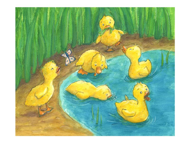 six yellow ducks artwork